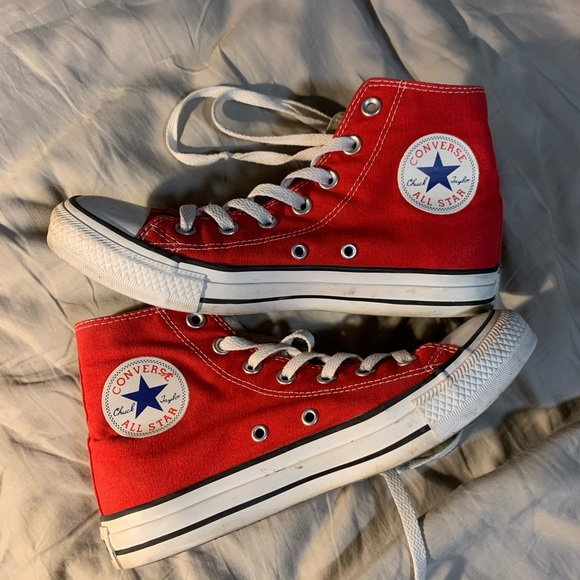 red converse size 7 womens